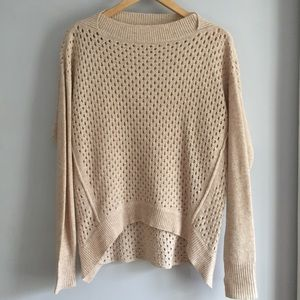 Rebecca Taylor Tan Open Knit Sweater